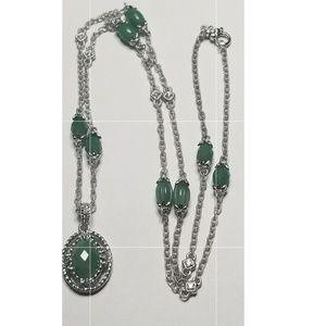 "New Ripka Sterling Jade necklace 36"""